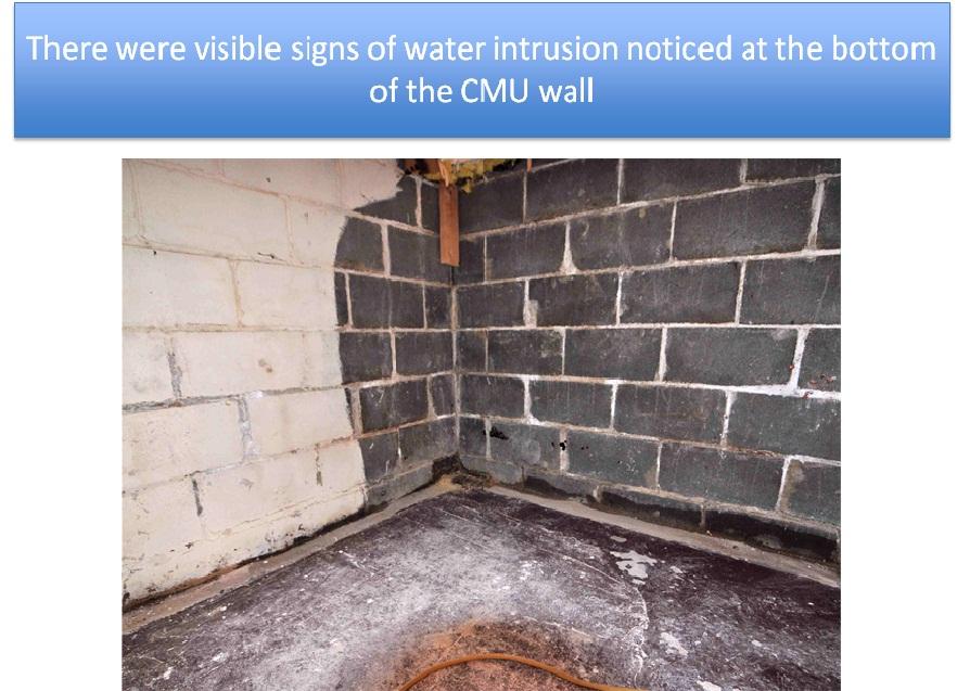 CMU Wall Interior Waterproofing