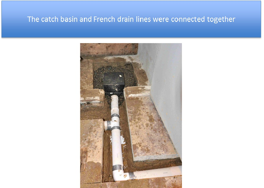 Catch Basin and French Drain Lines Connected