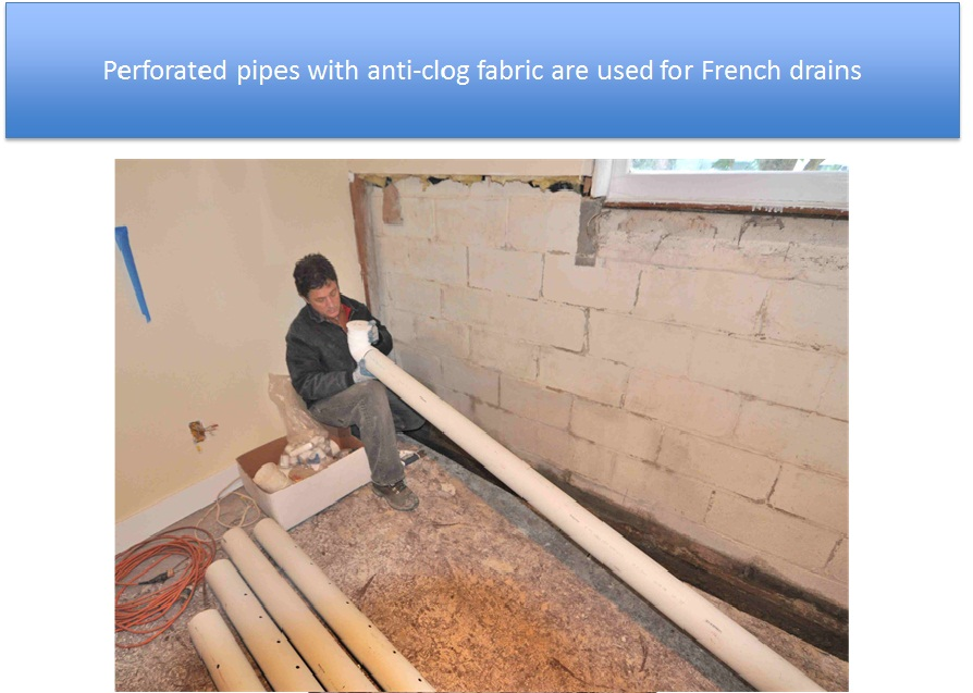 Perforated Pipes Used For French Drains