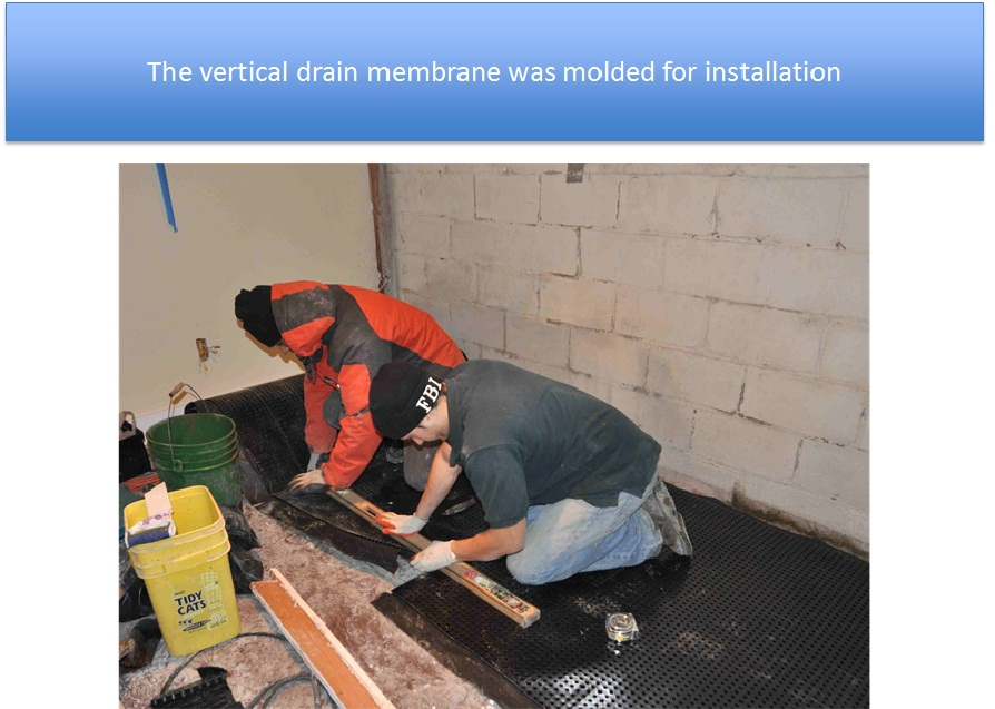 Vertical Drain Membrane Was Molded