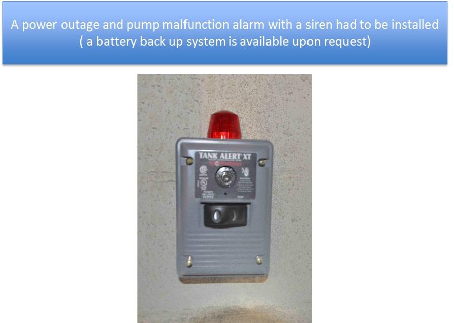Sump Pump Alarm Installed