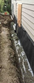 Exterior Basement Waterproofing Finish