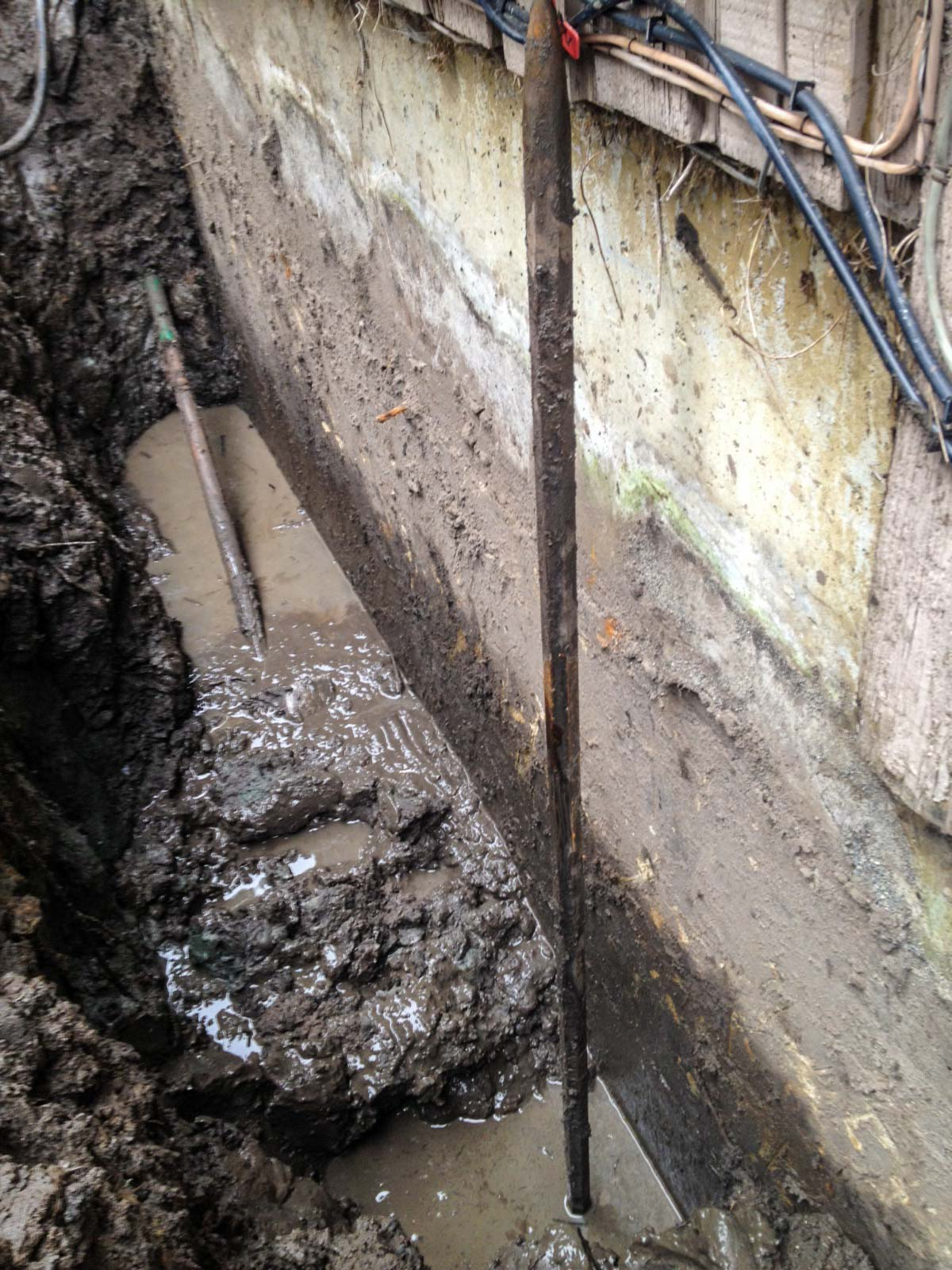 Drainage Pipe Broken For Exterior Waterproofing